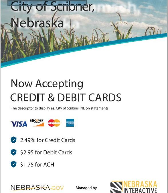 City now accepting credit/debit/online payments