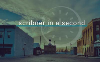 Scribner in a Second